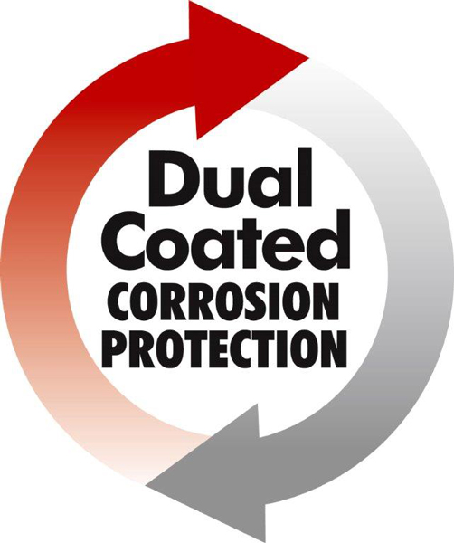 Dual Coated corrosion protection Logo